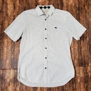Burberry Brit Striped Short Sleeve Shirt Size Medi